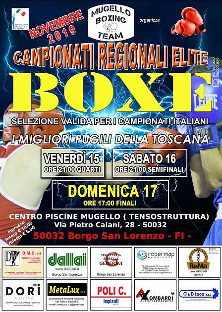 Campionati toscani Elite 2019, Borgo San Lorenzo dal 15 al 17 Novembre - Nove da Firenze