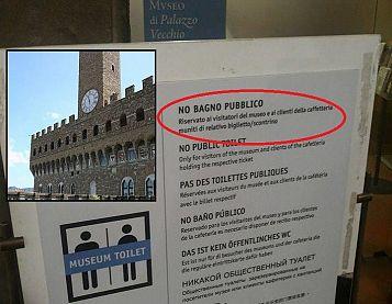 Cartelli Da Bagno : Bagni pubblici: palazzo vecchio li vuole aperti ma chiede lo